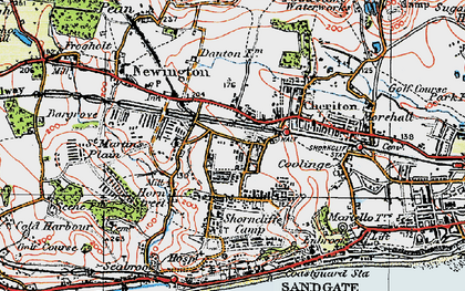 Old map of Cheriton in 1920