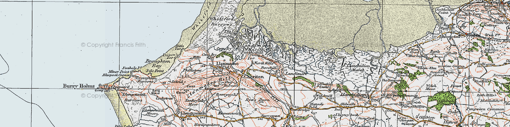 Old map of Cheriton in 1923
