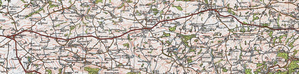 Old map of Wooston Castle in 1919