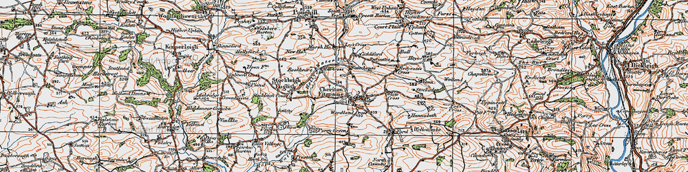 Old map of Ley's Cross in 1919