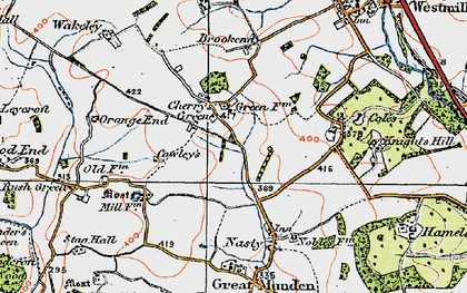 Old map of Cherry Green in 1919