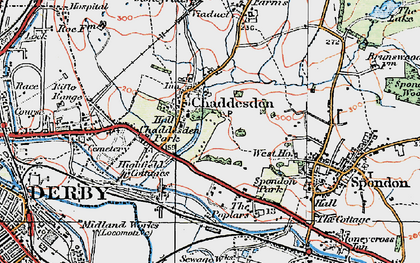 Old map of Cherrytree Hill in 1921