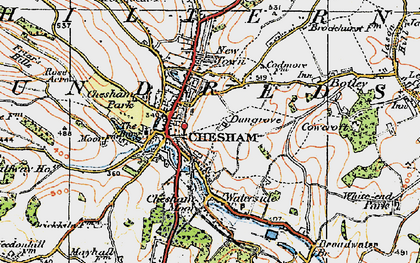 Old map of Chesham in 1920