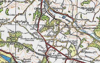 Old map of Chesham Bois in 1920