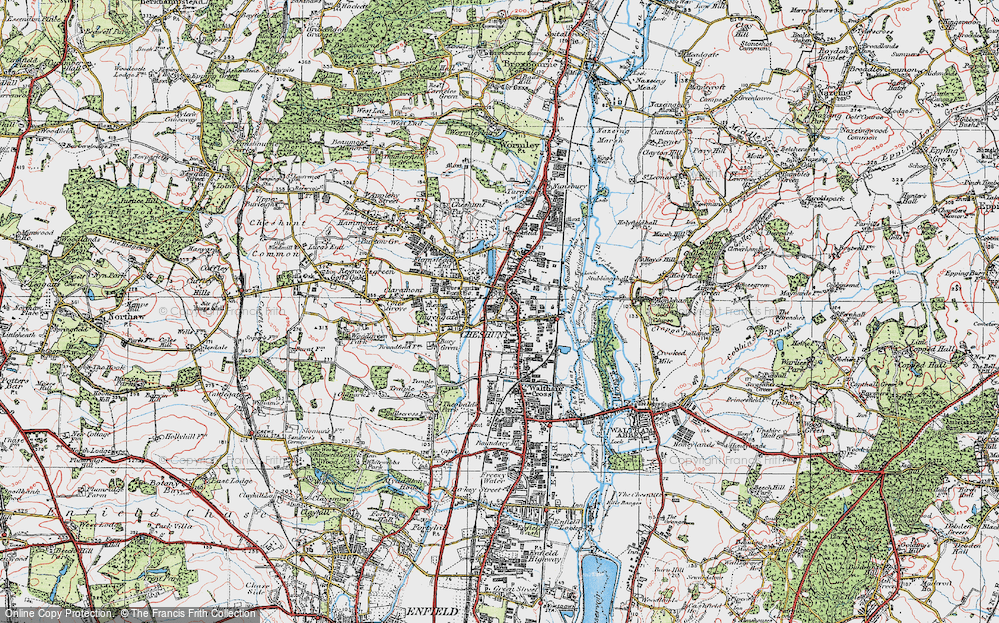 Old Maps of Cheshunt Francis Frith
