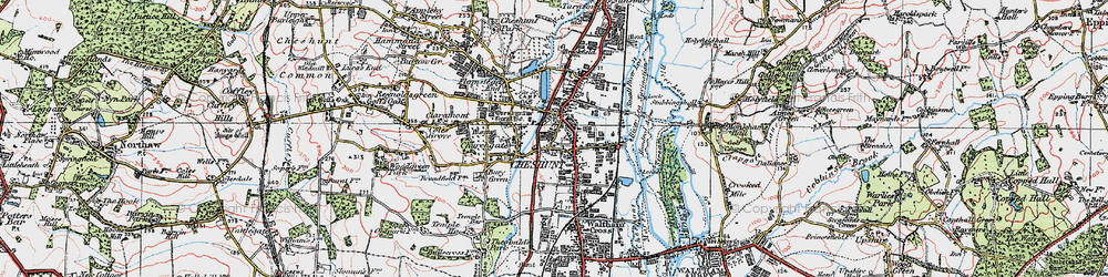 Old map of Cheshunt in 1920