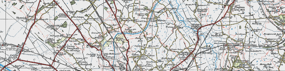 Old map of Chester Zoo in 1924