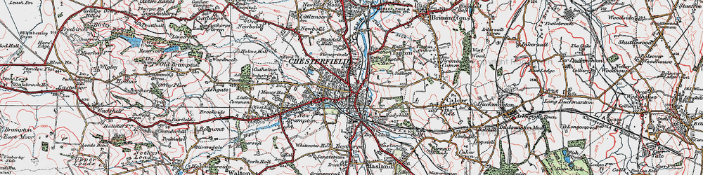 Old map of Chesterfield in 1923