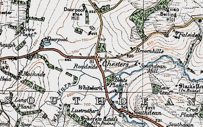 Old map of Westerhouses in 1926
