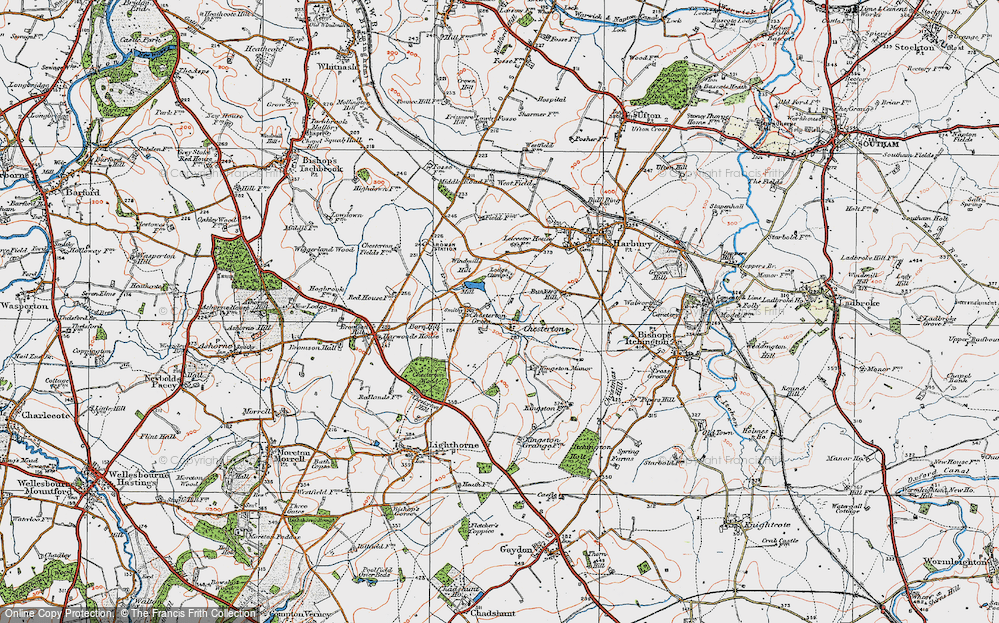 Old Map of Chesterton, 1919 in 1919
