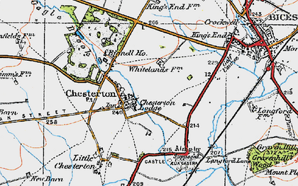 Old map of Alchester (Roman Town) in 1919