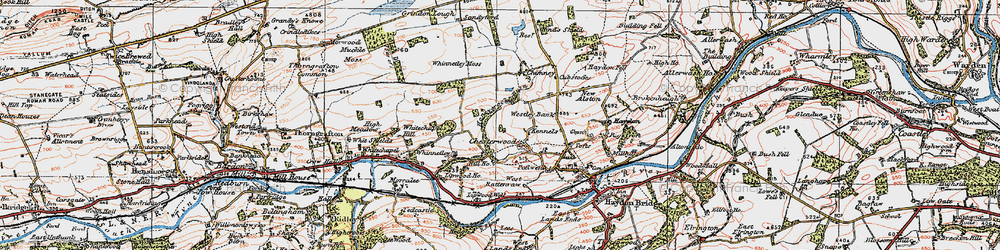 Old map of Westley Bank in 1925