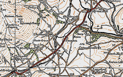 Old map of Zeaston in 1919