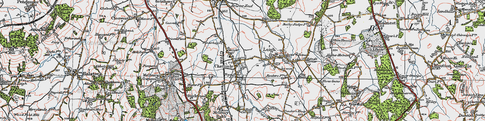Old map of Wriggle River in 1919