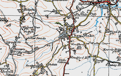 Old map of Woodford Hill in 1919