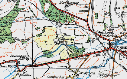 Old map of Chicksands in 1919