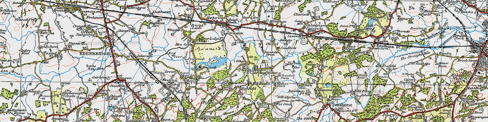 Old map of Chiddingstone in 1920