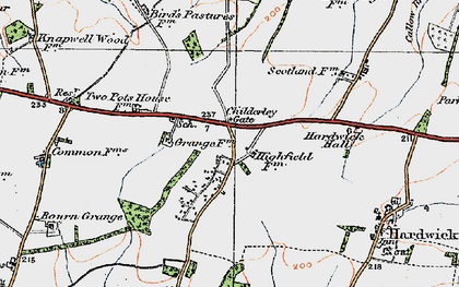 Old map of Childerley Gate in 1920