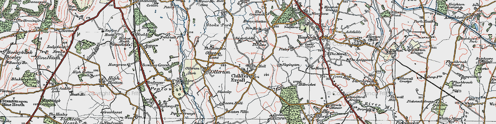 Old map of Childs Ercall in 1921