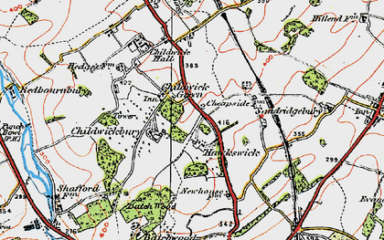 Old map of Childwick Green in 1920