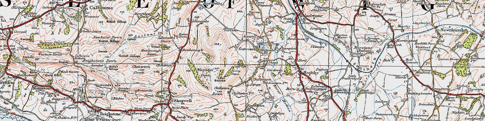 Old map of Westridge Down in 1919