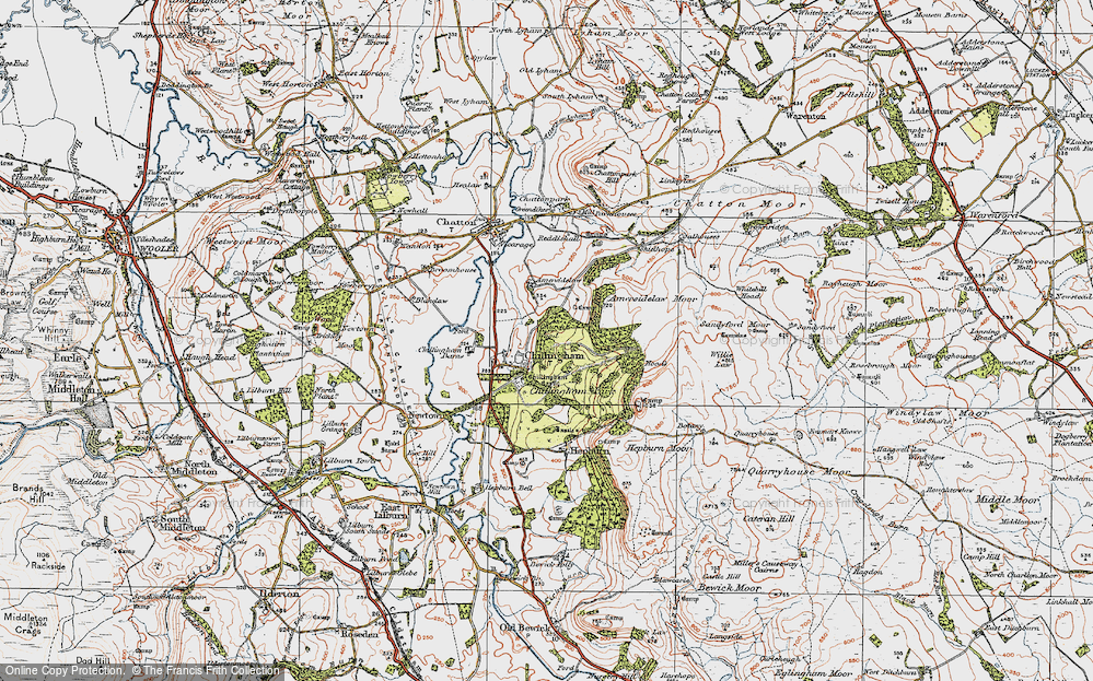 Old Map of Chillingham, 1926 in 1926