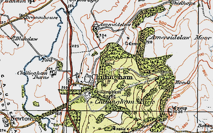 Old map of Chillingham in 1926