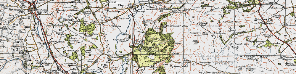 Old map of Willie Law in 1926