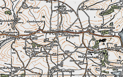 Old map of Chillington in 1919