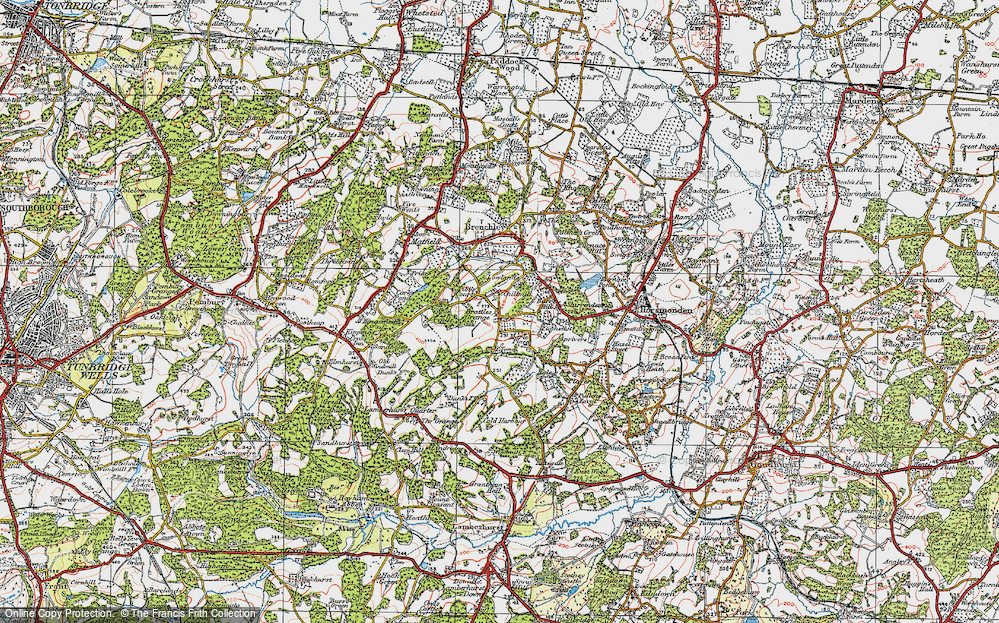 Old Map of Historic Map covering Tibb's Court in 1920