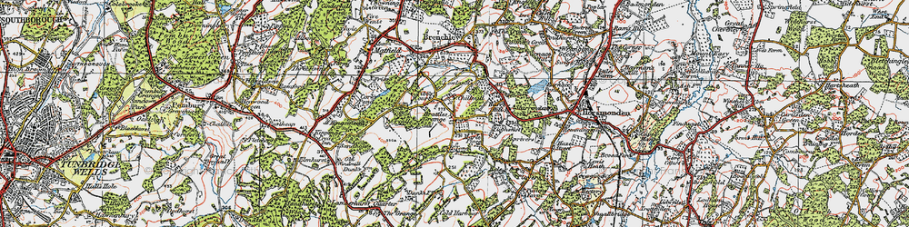Old map of Tibb's Court in 1920