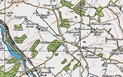 Old map of Chiltern Green in 1920