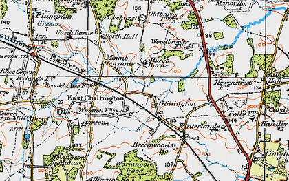 Old map of Yokehurst in 1920