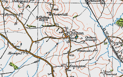 Old map of Chilton in 1919