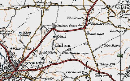Old map of Chilton in 1921