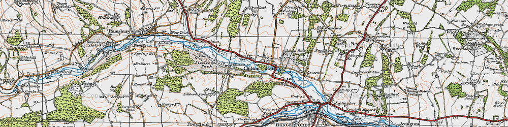 Old map of Chilton Foliat in 1919