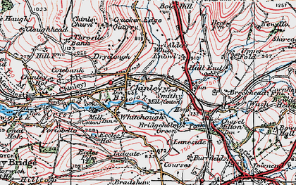 Old map of Chinley in 1923