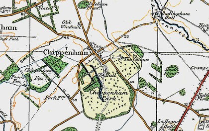 Old map of Badlingham Manor in 1920