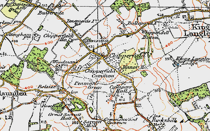 Old map of Chipperfield in 1920