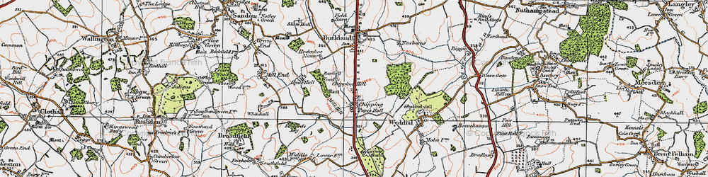 Old map of Chipping in 1919