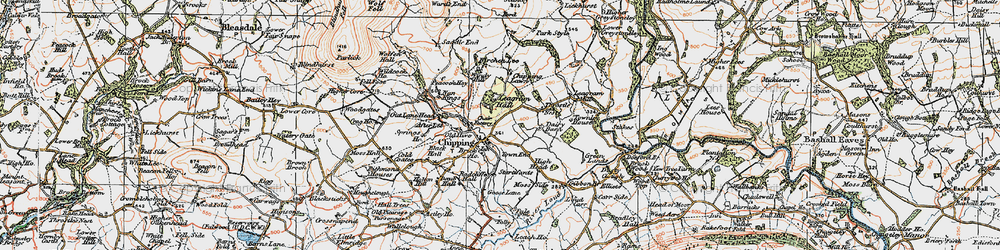 Old map of Wolfen Hall in 1924
