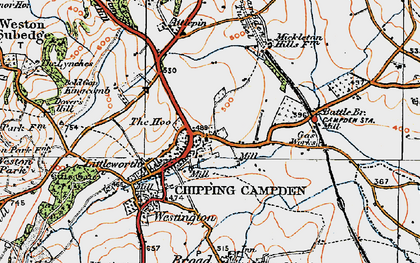 Old map of Chipping Campden in 1919