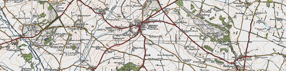 Old map of Chipping Norton in 1919
