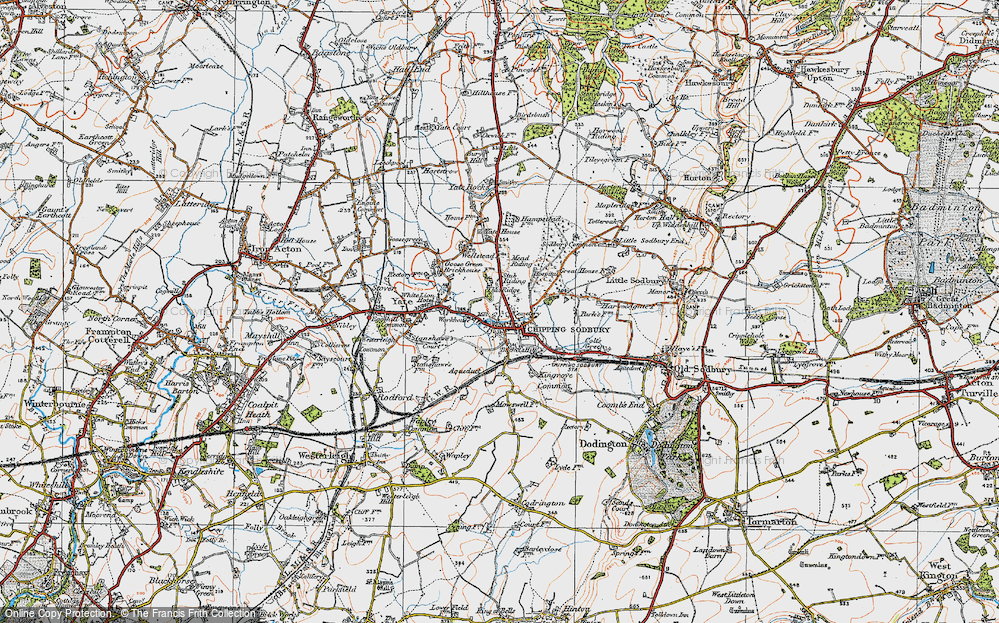 Old Map of Chipping Sodbury, 1919 in 1919