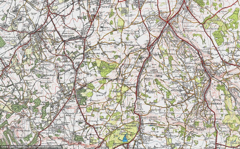 Old Map of Chipstead, 1920 in 1920