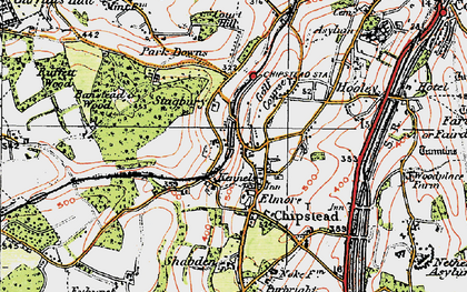 Old map of Banstead Wood in 1920
