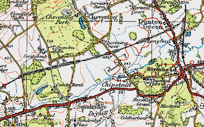 Old map of Chipstead in 1920