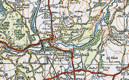 Old map of Chirk in 1921