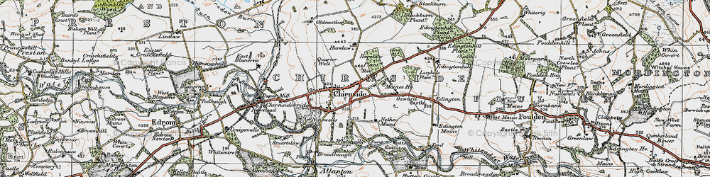 Old map of Lazybeds Plantn in 1926