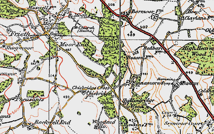 Old map of Chisbridge Cross in 1919